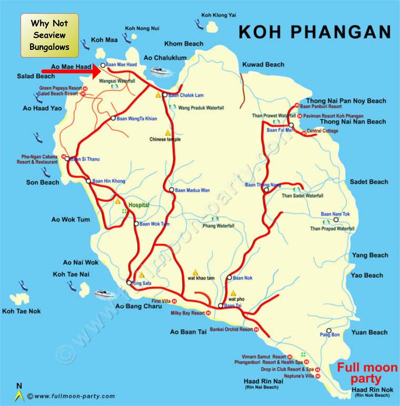 Why Not Seaview Bungalows Koh Phangan Thailand